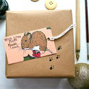 Woodland Mouse Christmas Tags