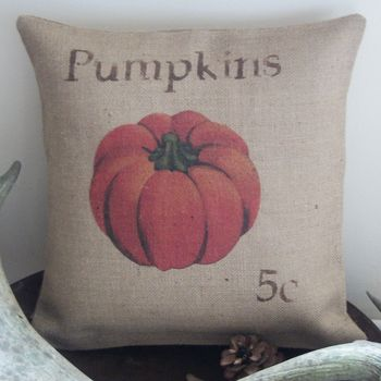 ' Rustic Pumpkin' Cushion