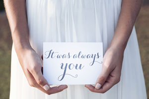'It Was Always You' Wedding Card