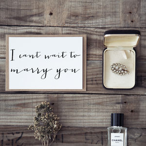 'I Can't Wait To Marry You' Wedding Day Card - weddings sale