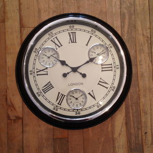 Clock With Three Dials 50cm - clocks