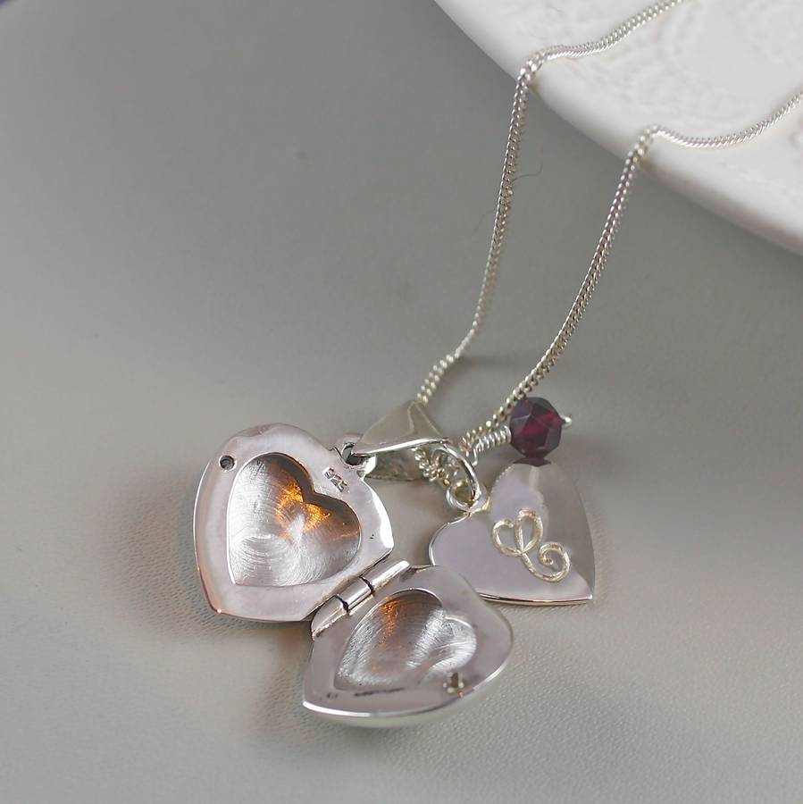 pink photo products tone love pendant little necklace silver princess open girls heart lockets locket kids small picture