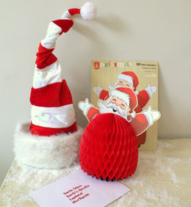 Father Christmas Honeycomb Decoration