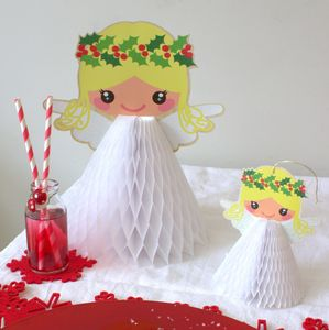 Angel Honeycomb Table Decoration