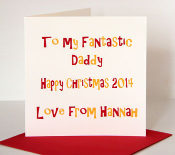 Personalised Fantastic Daddy Christmas Card