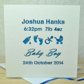 Personalised Laser Cut Baby Card - cards