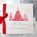 Personalised Christmas Card With Christmas Tree
