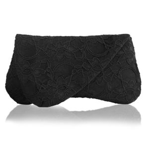 Arden Black Lace Clutch - womens