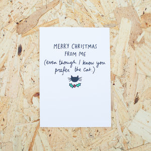 Prefer The Cat Christmas Card - cards & wrap