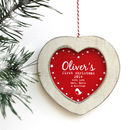 Personalised Baby's 'First Christmas' Heart Decoration