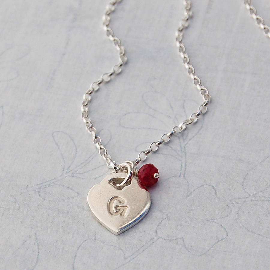 girls personalised silver charm with initial necklace by ...