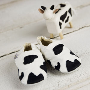 Moo Cow Soft Sole Leather Baby Shoes - babies' shoes, sandals & boots