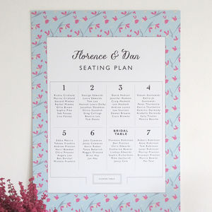 Seating Plan With Bespoke Border - table decorations