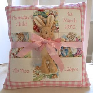 Beatrix Potter Memory Cushion Gift Set - children's room