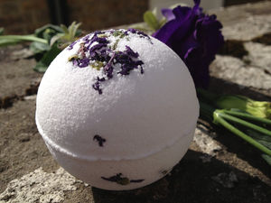 Lavender, Clary Sage And Lemon Bath Bomb - bathroom