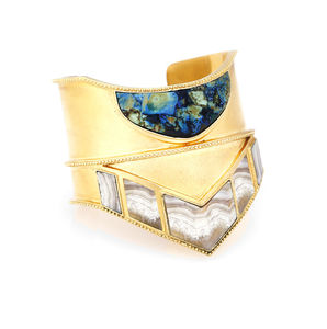 Mimir Statement Cuff - geometric shapes