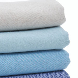 Luxury Fine Merino Throw Coastal Blue Collection - blankets & throws