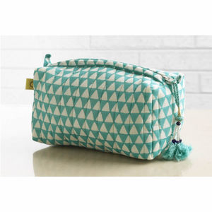 Aqua Alibag Triangle Make Up Bag - make-up bags