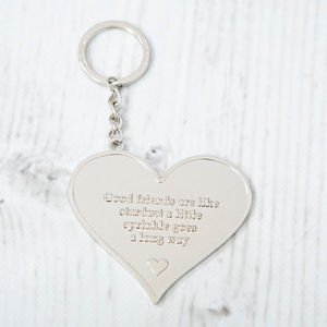 'Friends Are Like Stardust' Message Keyring