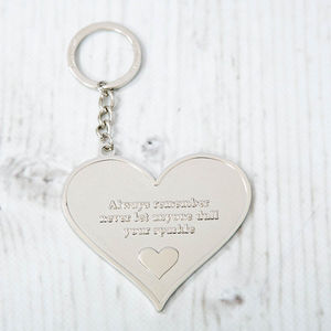 'Dull Your Sparkle' Message Keyring