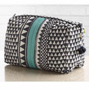 Sankari Geometric Stripe Quilted Voile Wash Bag