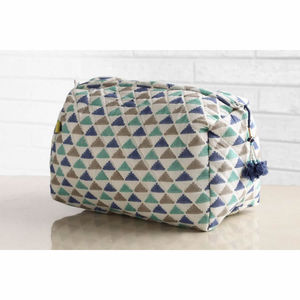 Juna Tri Colour Block Print Wash Bag - health & beauty sale