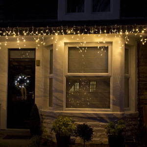 Warm White Outdoor Icicle Lights - christmas lighting