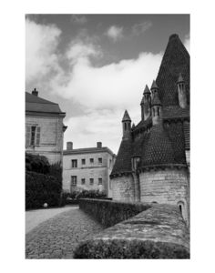 Fontevraud Abbey, France, Black And White Signed Print - contemporary art