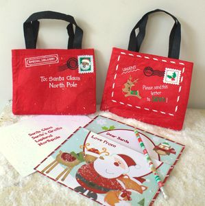 Santa's Envelope Bag - stockings & sacks