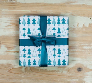 'Forest' Gift Wrap Four Folded Sheets