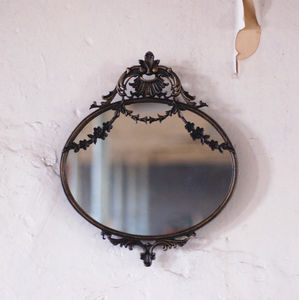 Antique Style Small Decorative Mirror - bedroom