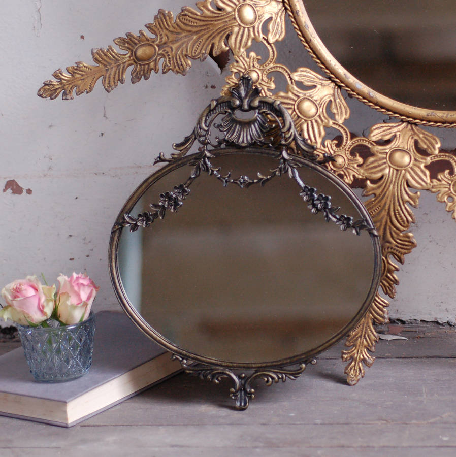 Antique style small decorative mirror by made with love for Small decorative mirrors