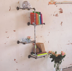 Industrial Steel Wall Shelves - home sale
