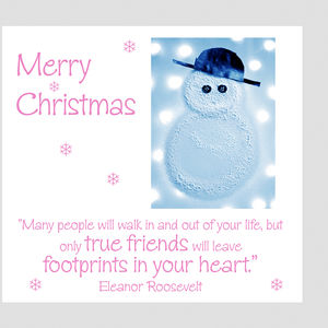 Snowman Special Friends Card