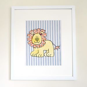 Lion Children's Personalised Print