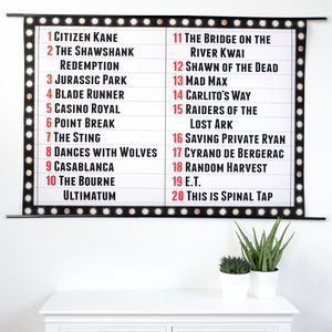 Personalised Cinema Sign Art Print - canvas prints & art