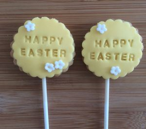 Easter Cookie Pops - christmas
