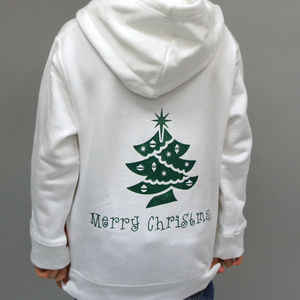 Child's Personalised Christmas Hoodie - children's christmas clothing
