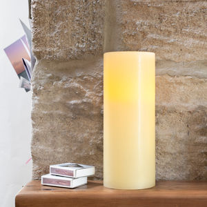 Large Chapel Battery LED Pillar Candle - candles & home fragrance