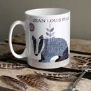 'Badger' Personalised Tweed Design Mug