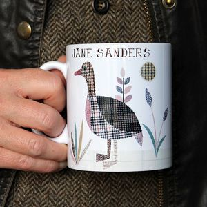'Duck' Personalised Tweed Design Mug - dining room