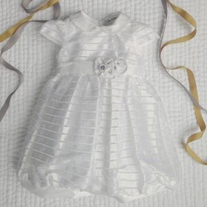 Gardenia Cotton And Taffeta Dress