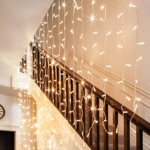 288 Warm White Curtain Fairy Lights