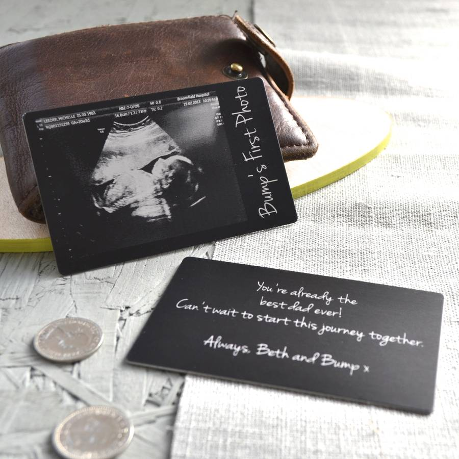 baby scan wallet keepsake card by clouds and currents ...