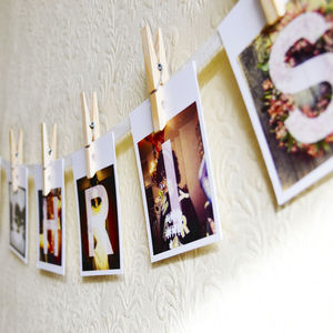 Personalised Christmas Photo Bunting