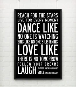 Inspiring Wonderful Words Poster Or Canvas