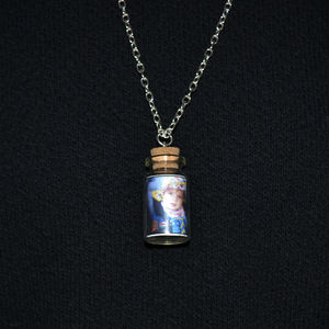 Photo Bottle Charm Necklace