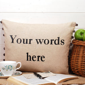 Your Words Cushion - bedroom