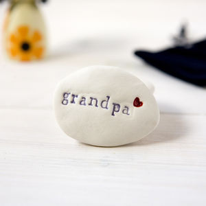 'Grandpa' Gift Pebble Keepsake