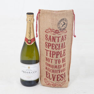 Santa's Special Tipple Christmas Bottle Bag